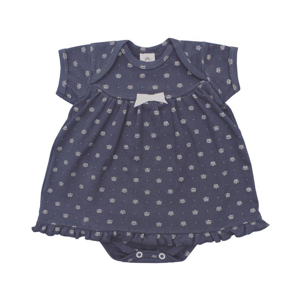Body Bebê Vestido Coroa  - Piu Blu