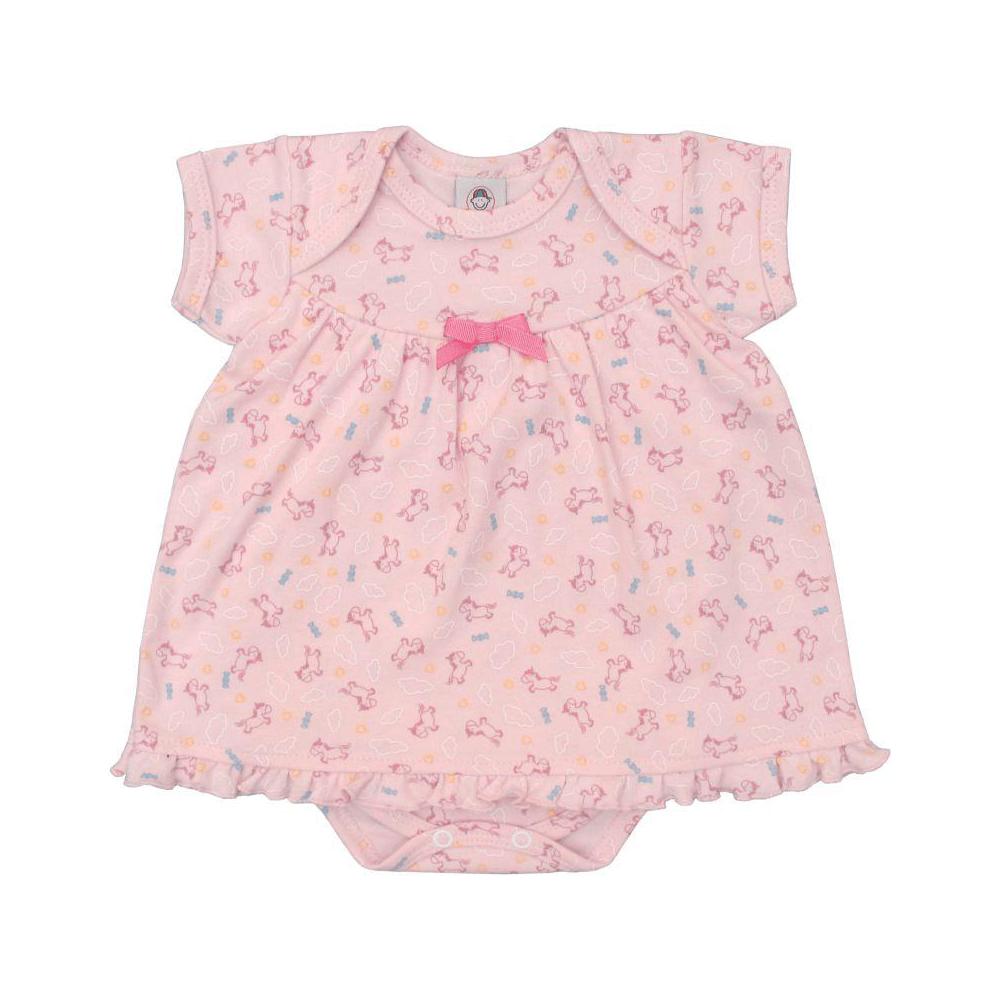 Body Bebê Vestido Infantil Unicórnios