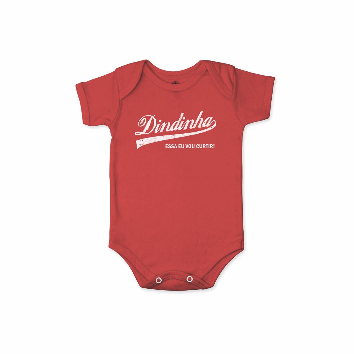 Body Bebê Frase Manga Curta Dindinha Curtir
