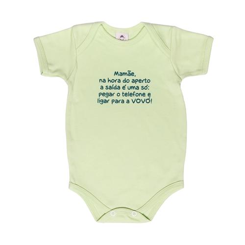 Body Bebê Frase Manga Curta Ligar para  Vovó  - Piu Blu
