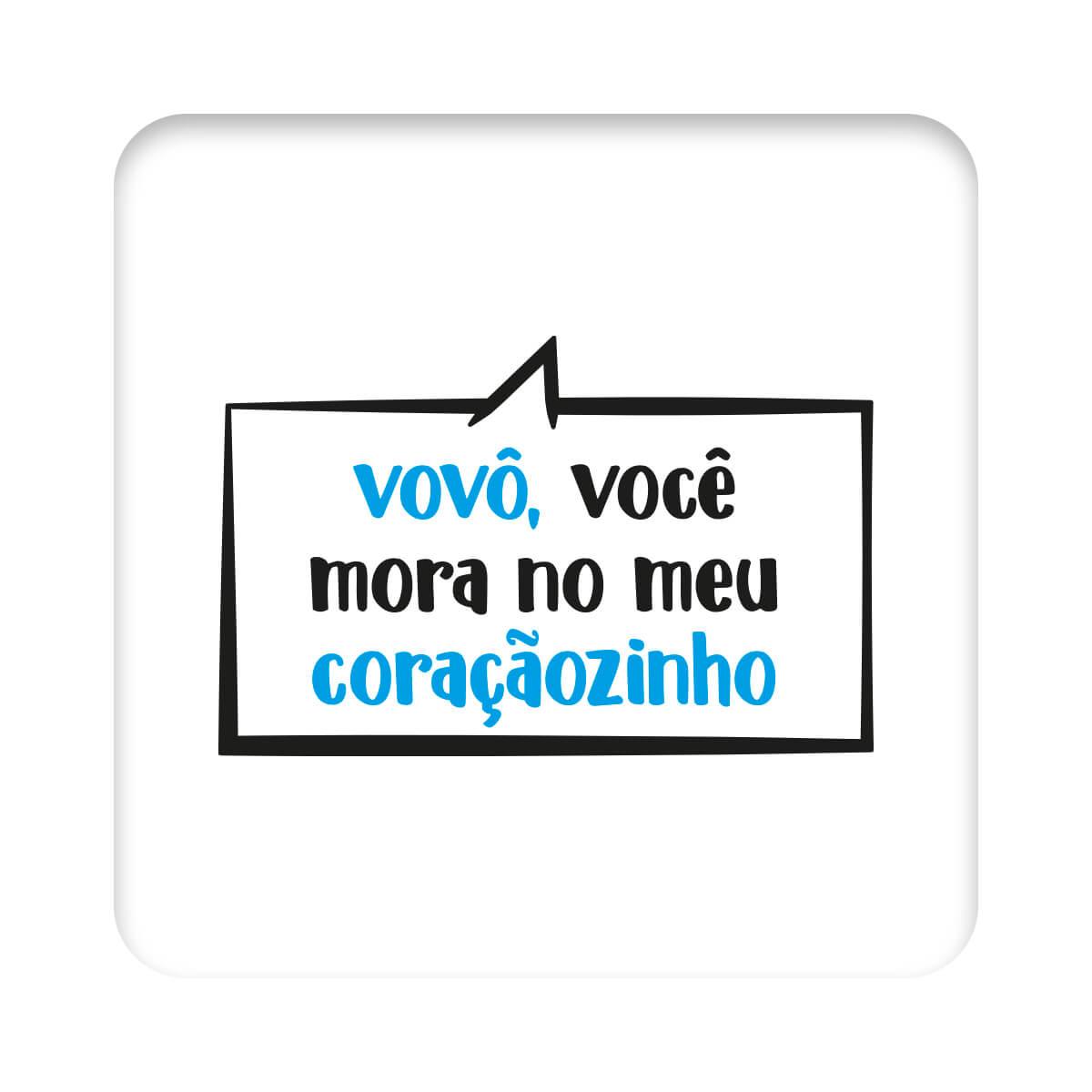 Body Frase Manga Curta O Vovô Mora  - Piu Blu