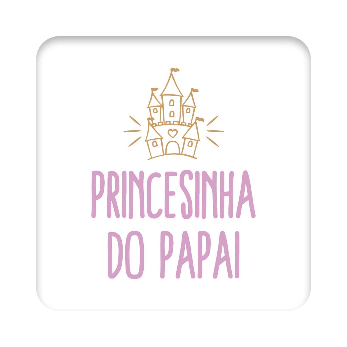 Body Bebê Frase Manga Curta Princesinha do Papai  - Piu Blu