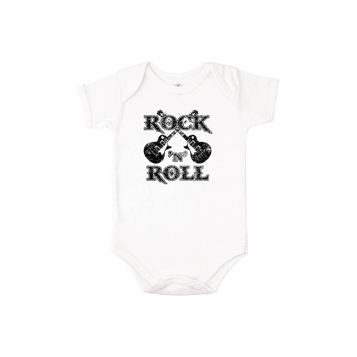 Body Manga Curta Rock n Roll  - Piu Blu