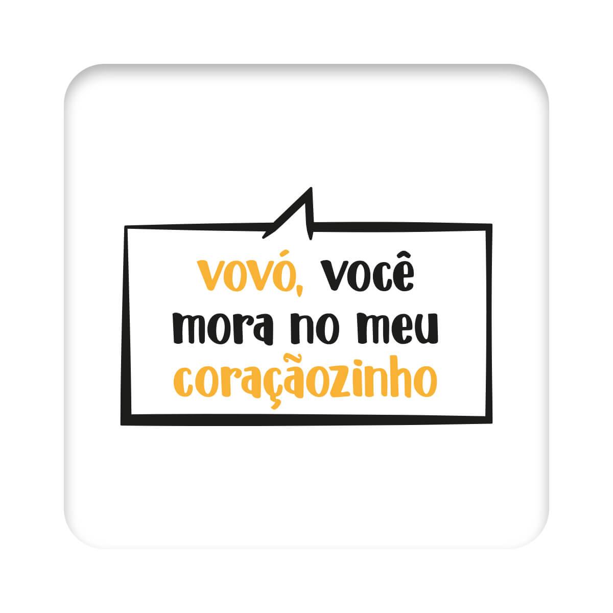 Body Frase Manga Longa A Vovó Mora  - Piu Blu