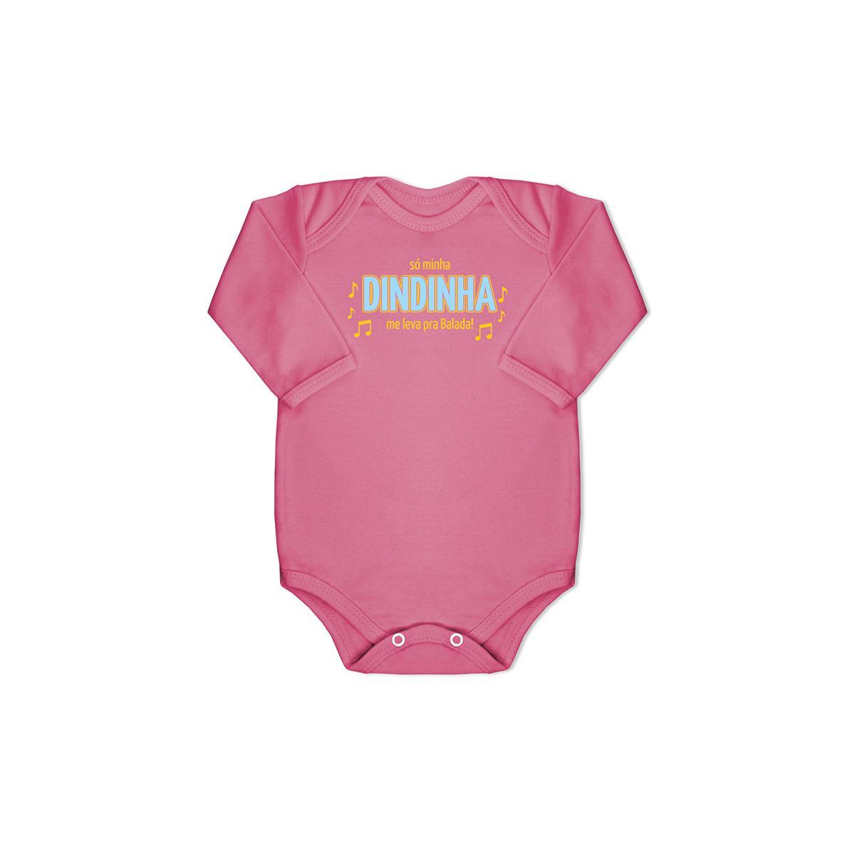 Body Bebê Manga Longa Balada Suedine 100% Algodão