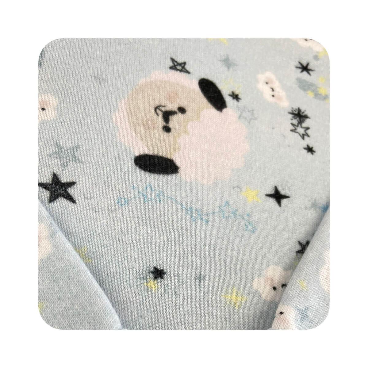 Body Bebê Manga Longa Ovelhinha Azul  - Piu Blu