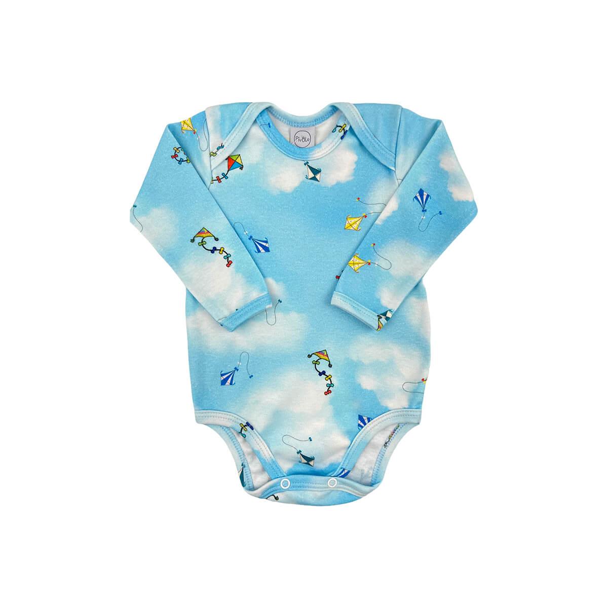 Body Bebê Manga Longa Pipa