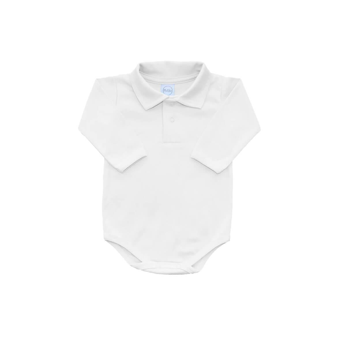 Body Polo Manga Longa Branco