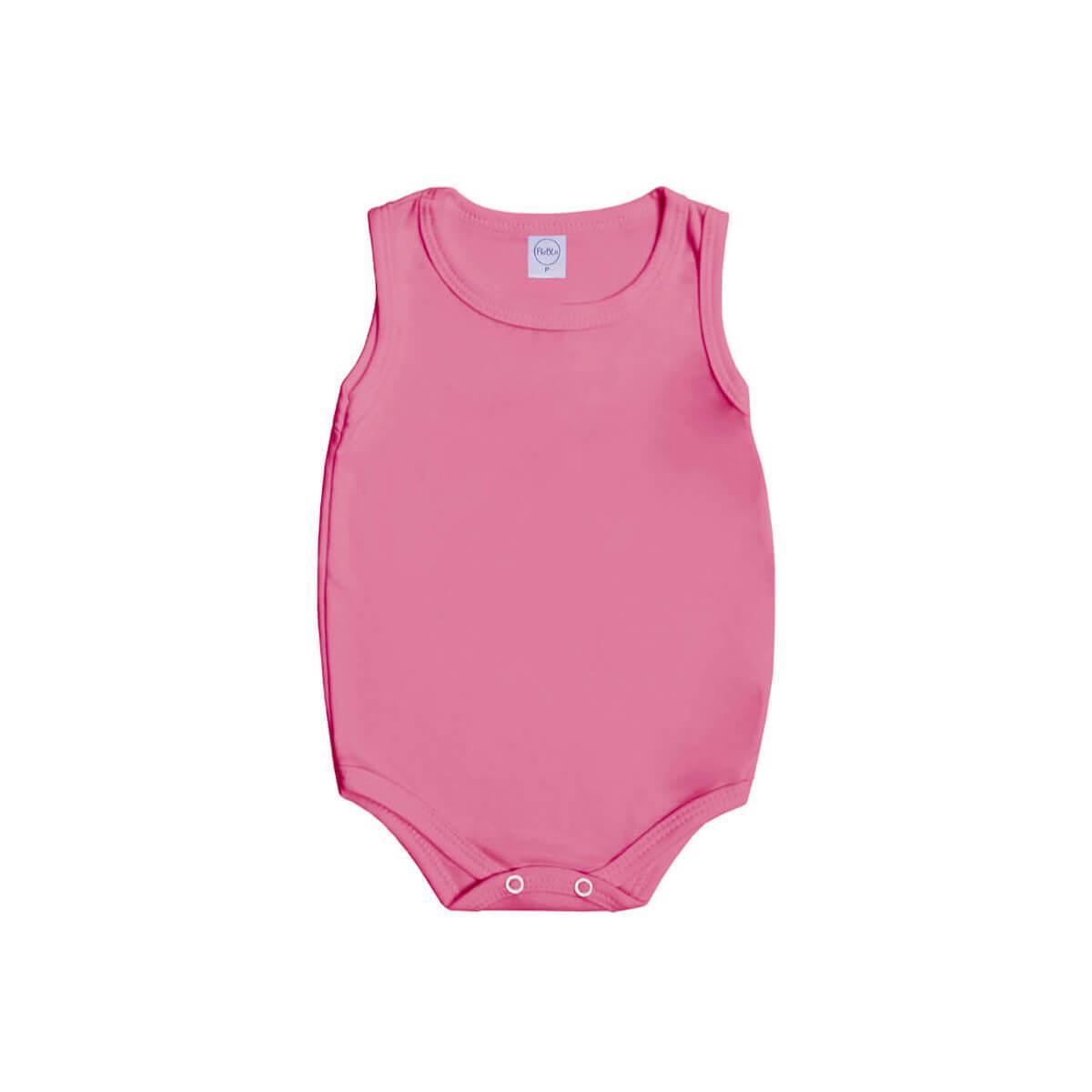 Body Regata Básico Rosa Chiclete  - Piu Blu
