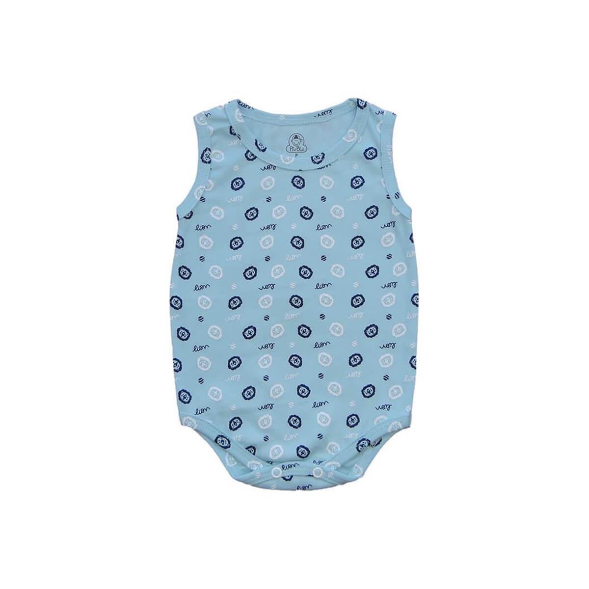 Body Regata Leãozinho Azul  - Piu Blu