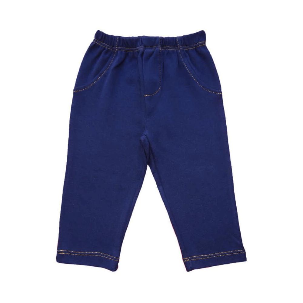 Calça Bebê Masculina Marinho  - Piu Blu