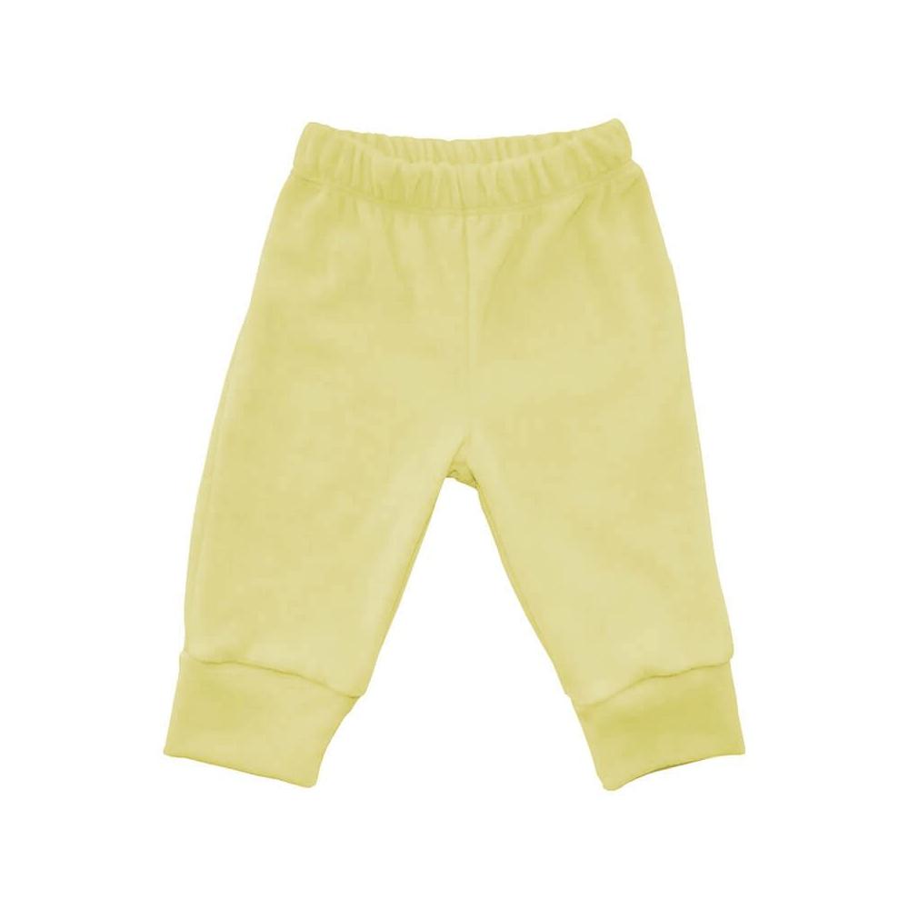 Calça Bebê Plush Amarela  - Piu Blu