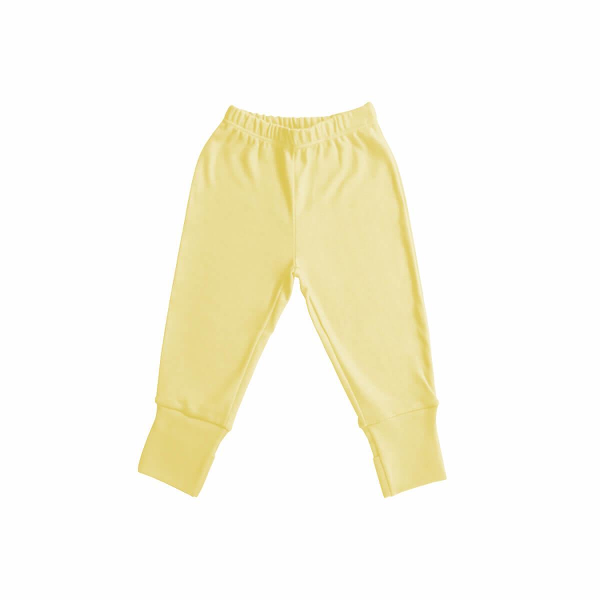 Calça com Pezinho Reversível Amarela