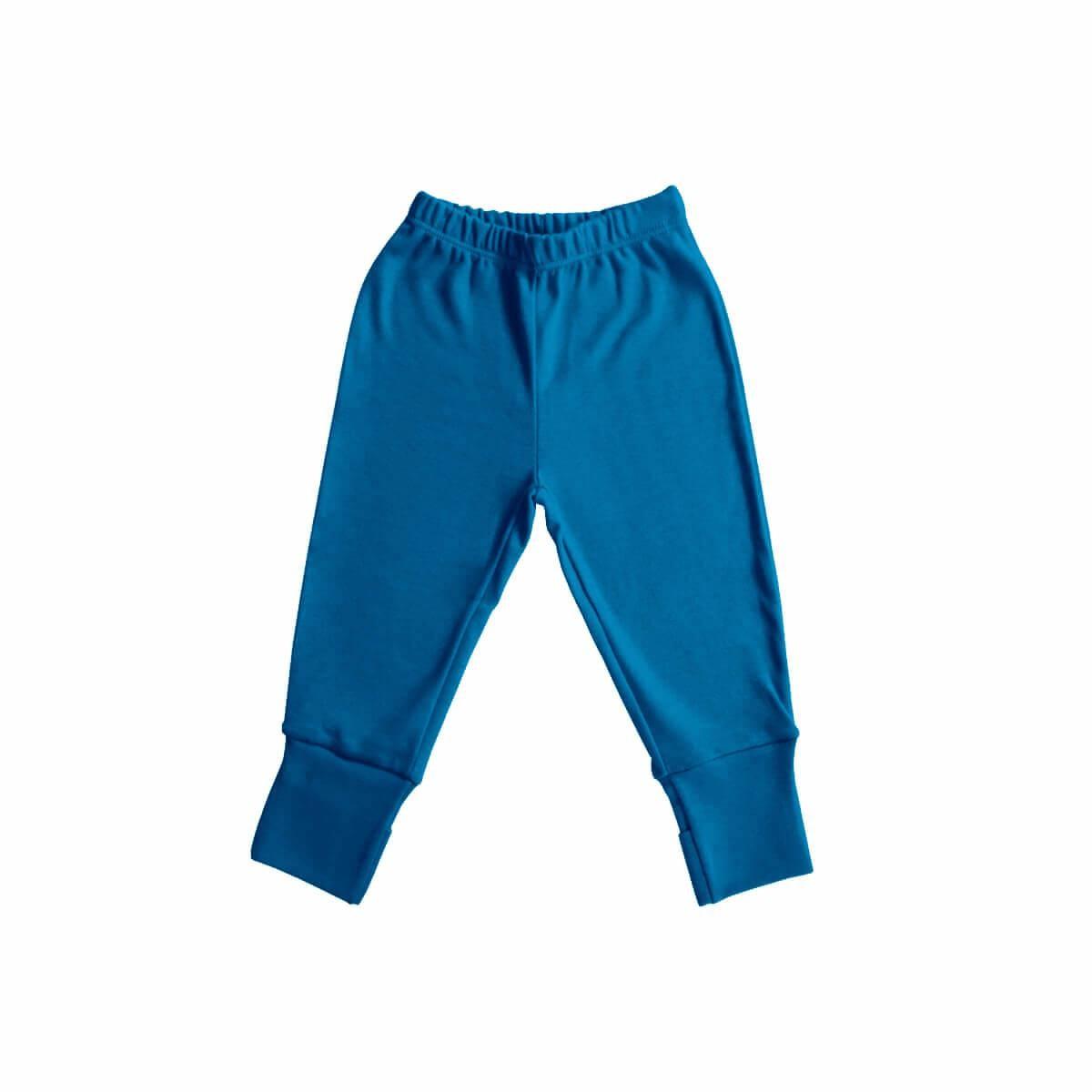 Calça com Pezinho Reversível Azul Cobalto  - Piu Blu
