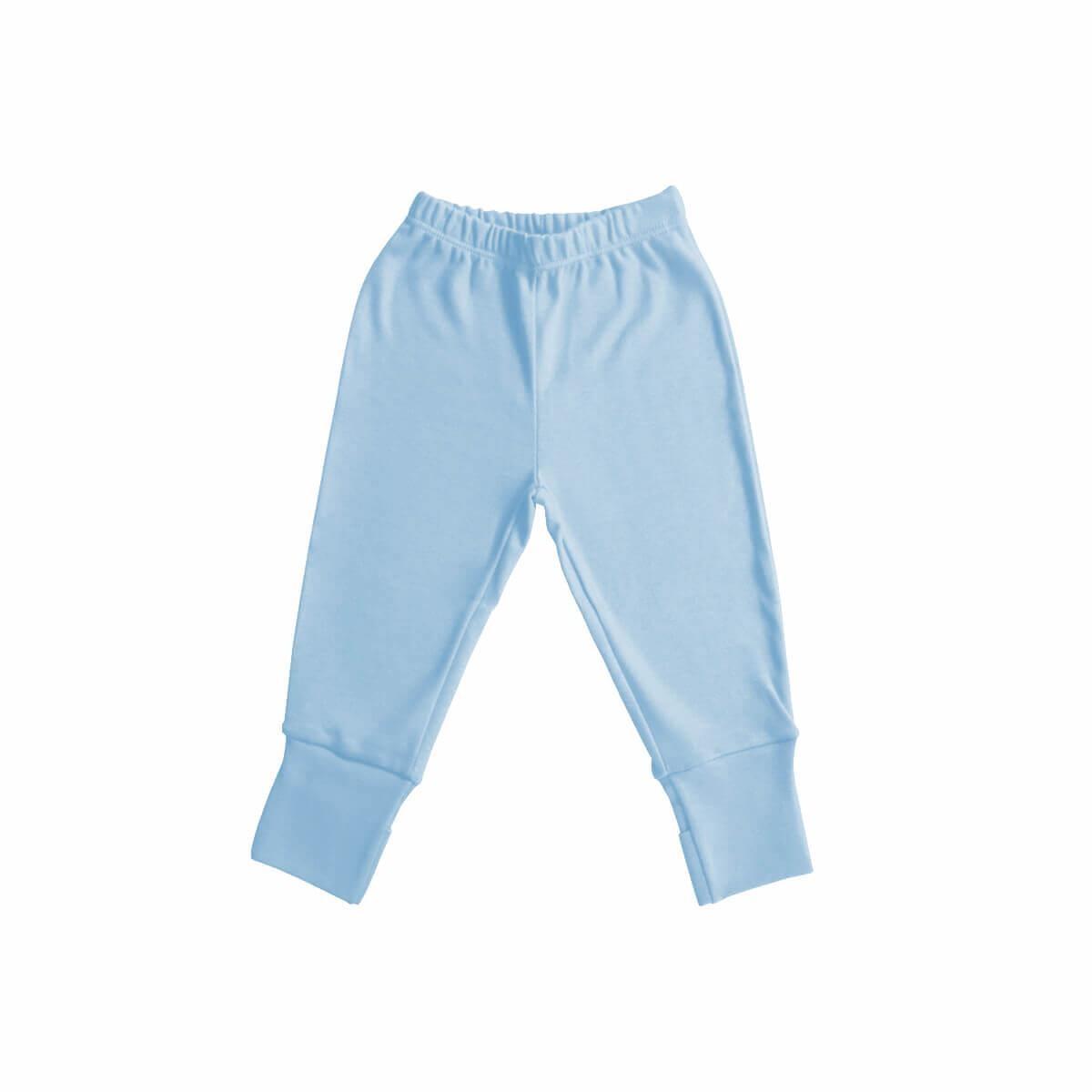 Calça com Pezinho Reversível Azul  - Piu Blu