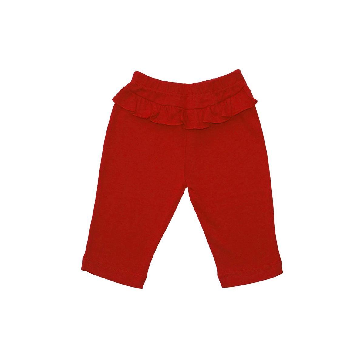 Calça Feminina Vermelho - 1 babado