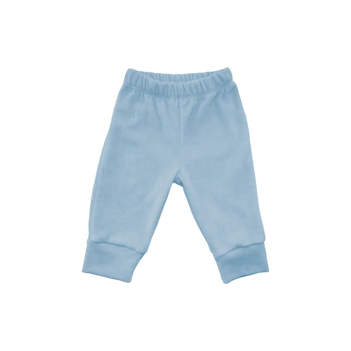 Calça Plush Azul Bebê