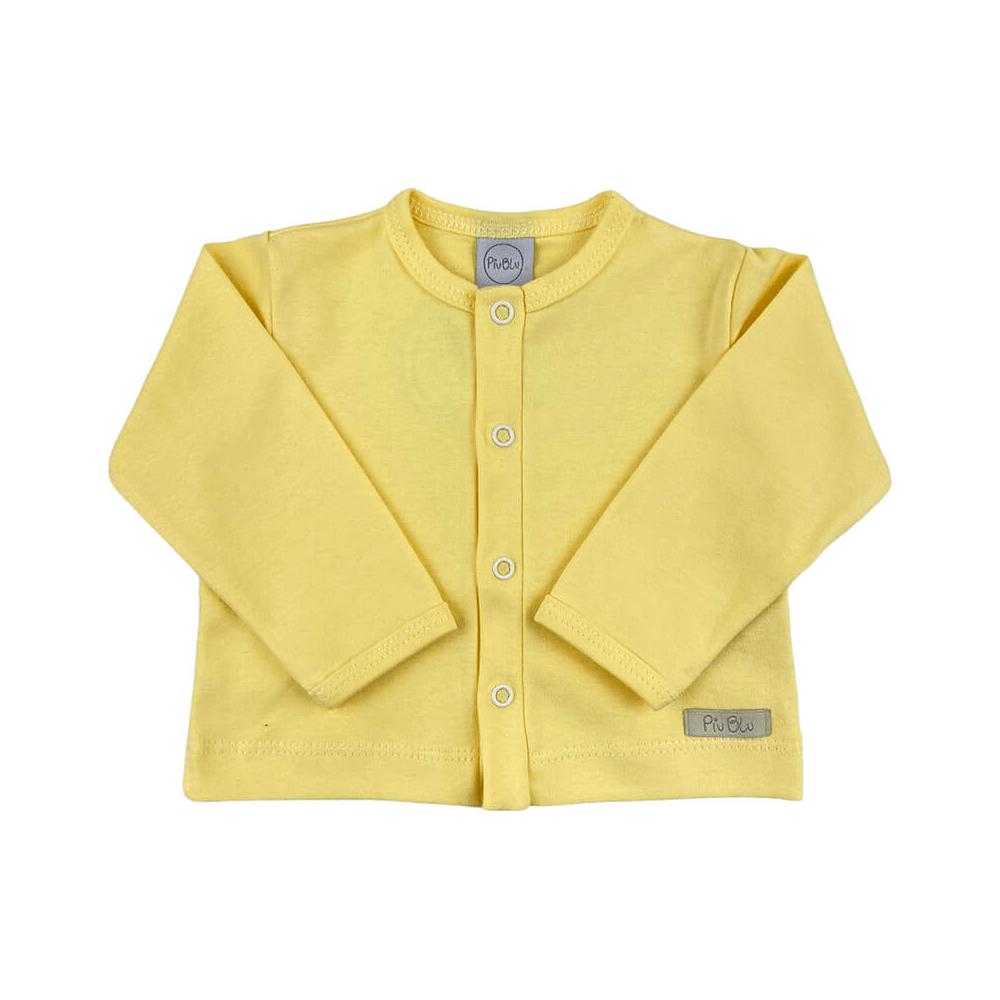 Casaquinho Bebê Amarelo - 1 ao 3  - Piu Blu