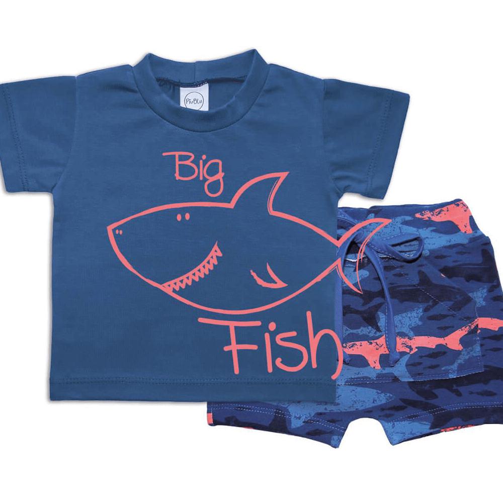 Conjunto Bebê Curto Tubarão