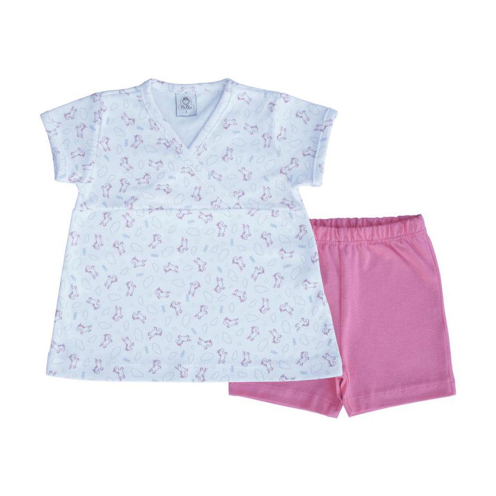 Conjunto Bebê Curto Unicórnios - 1 ao 3  - Piu Blu