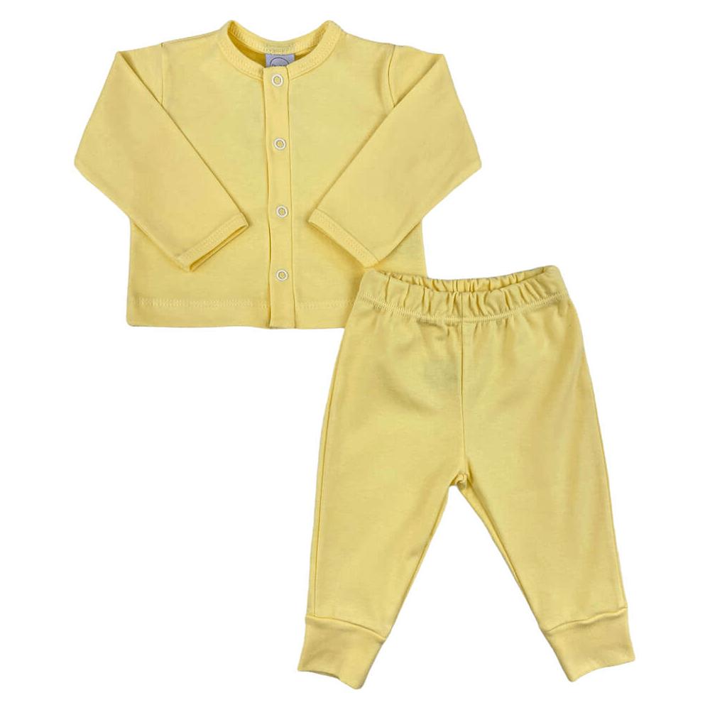 Conjunto Bebê Longo Casaquinho Amarelo