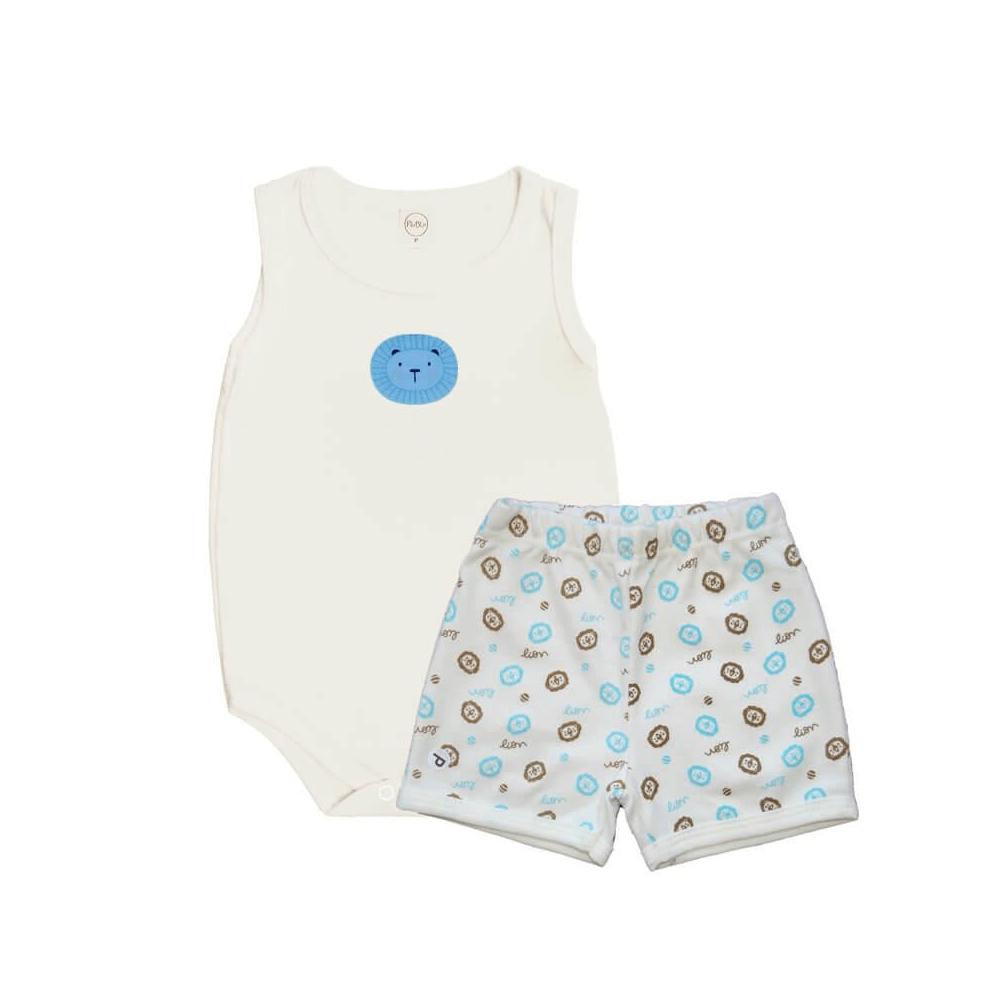 Conjunto Bebê Regata Leãozinho  - Piu Blu