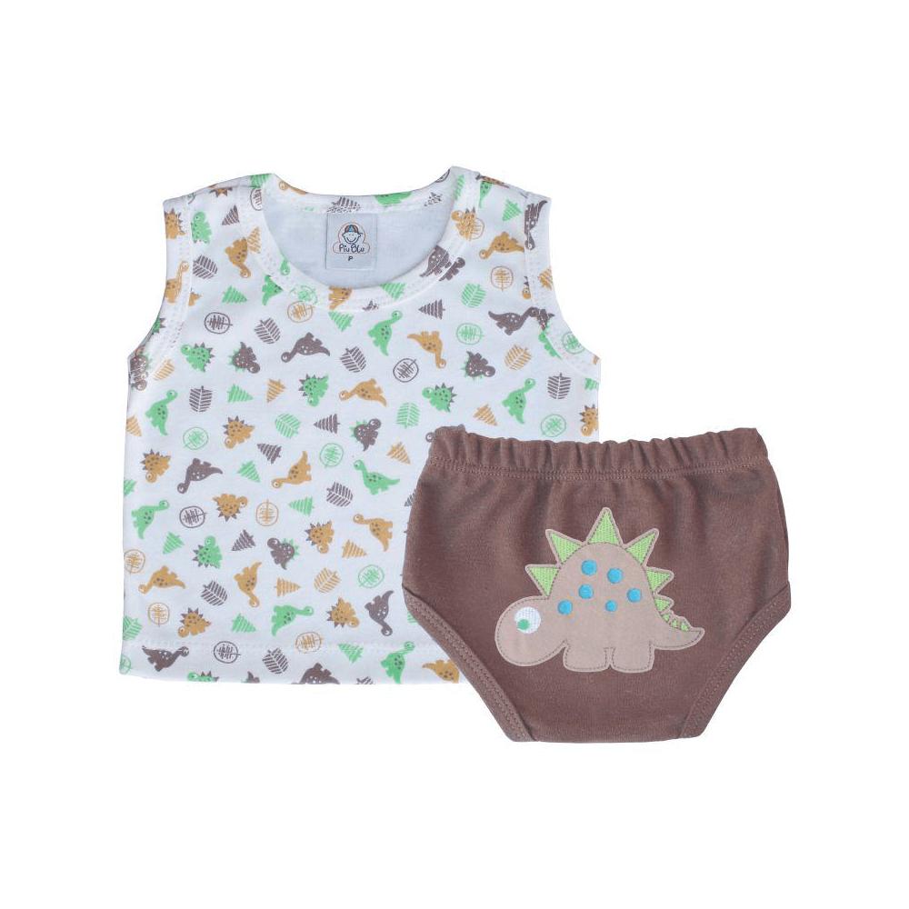 Conjunto Bebê Curto Dino  - Piu Blu