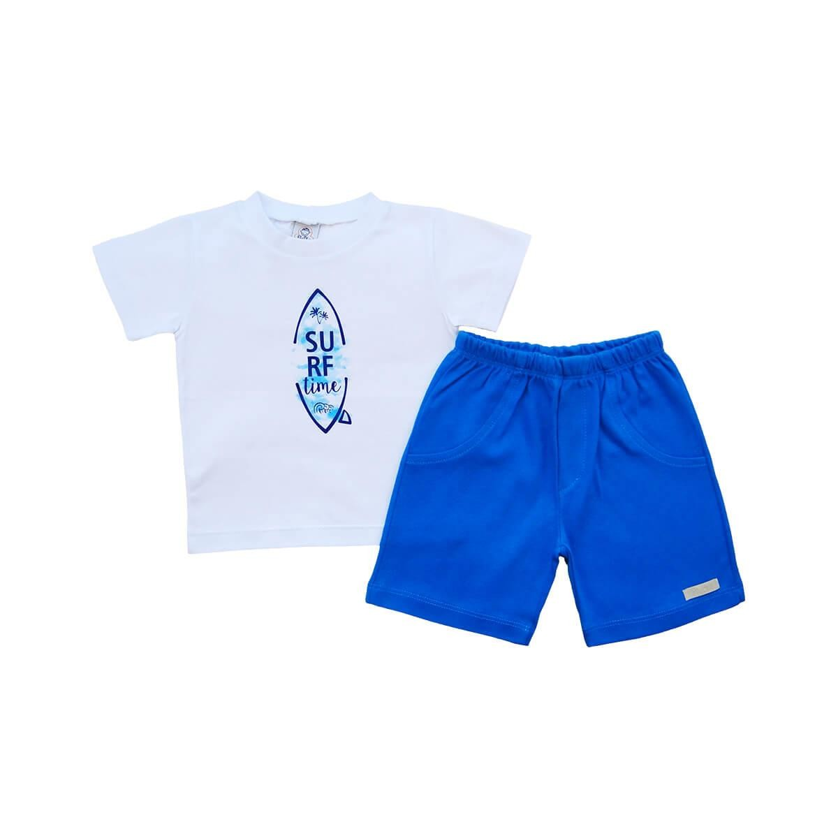 Conjunto Curto Body Surf Time Cobalto - 1 ao 3  - Piu Blu