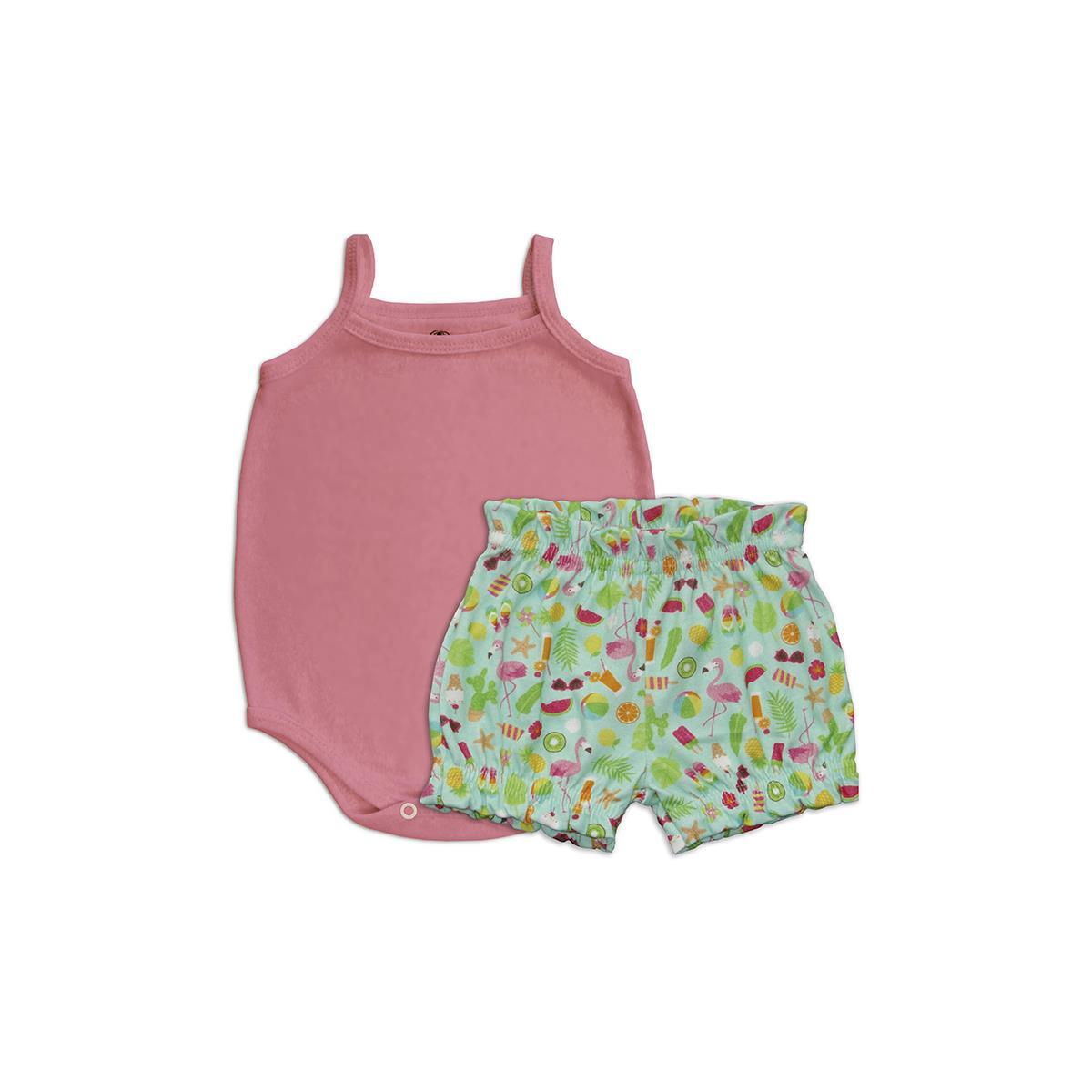Conjunto Curto Flamingos  - Piu Blu
