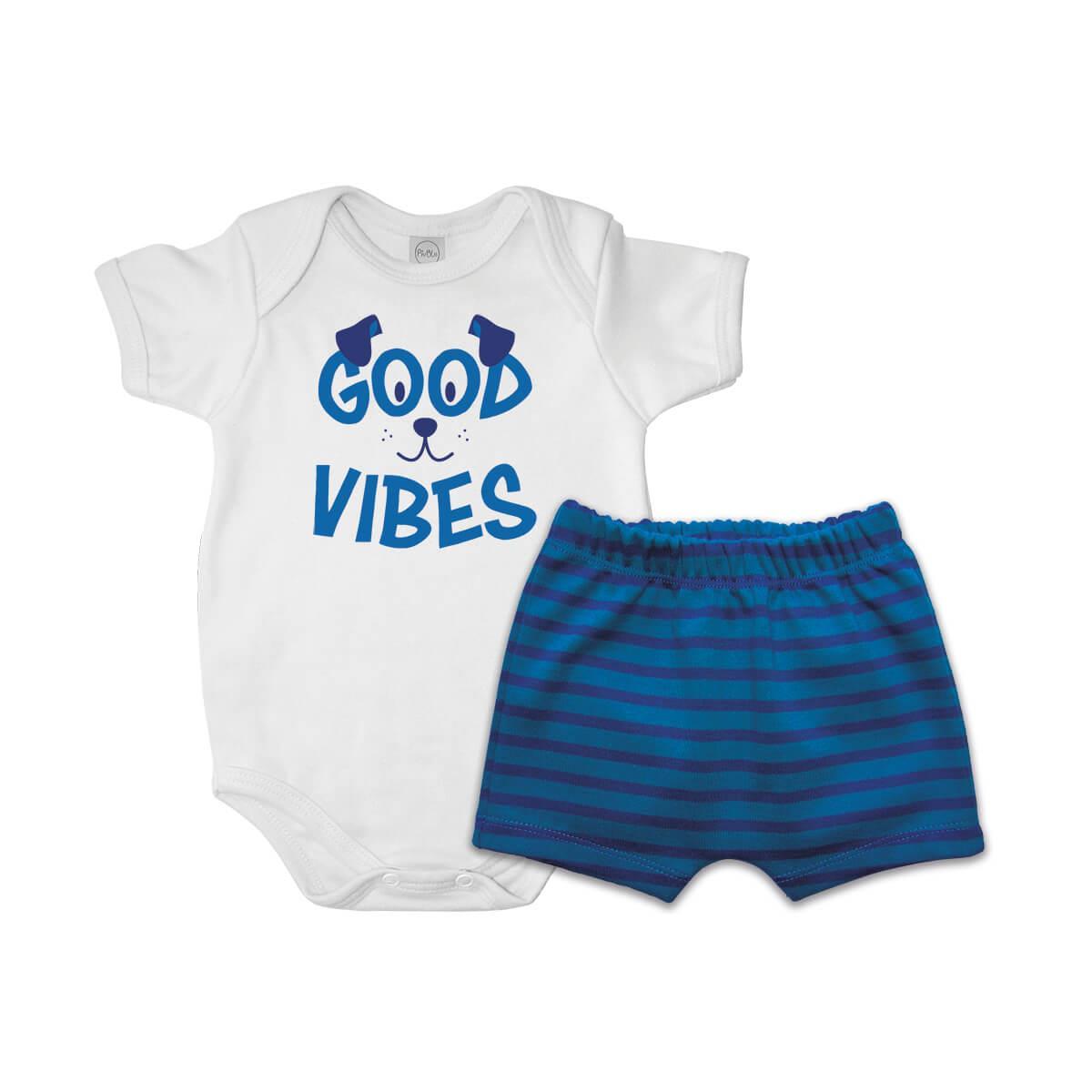 Conjunto Curto Good Vibes  - Piu Blu