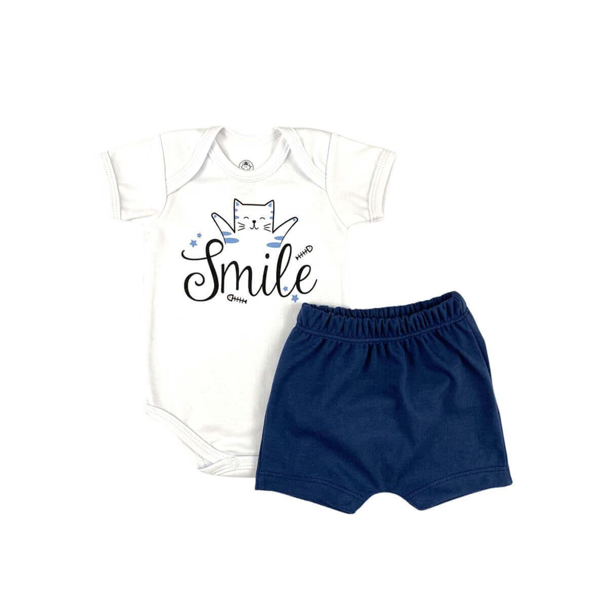 Conjunto Curto Smile Azul Jeans