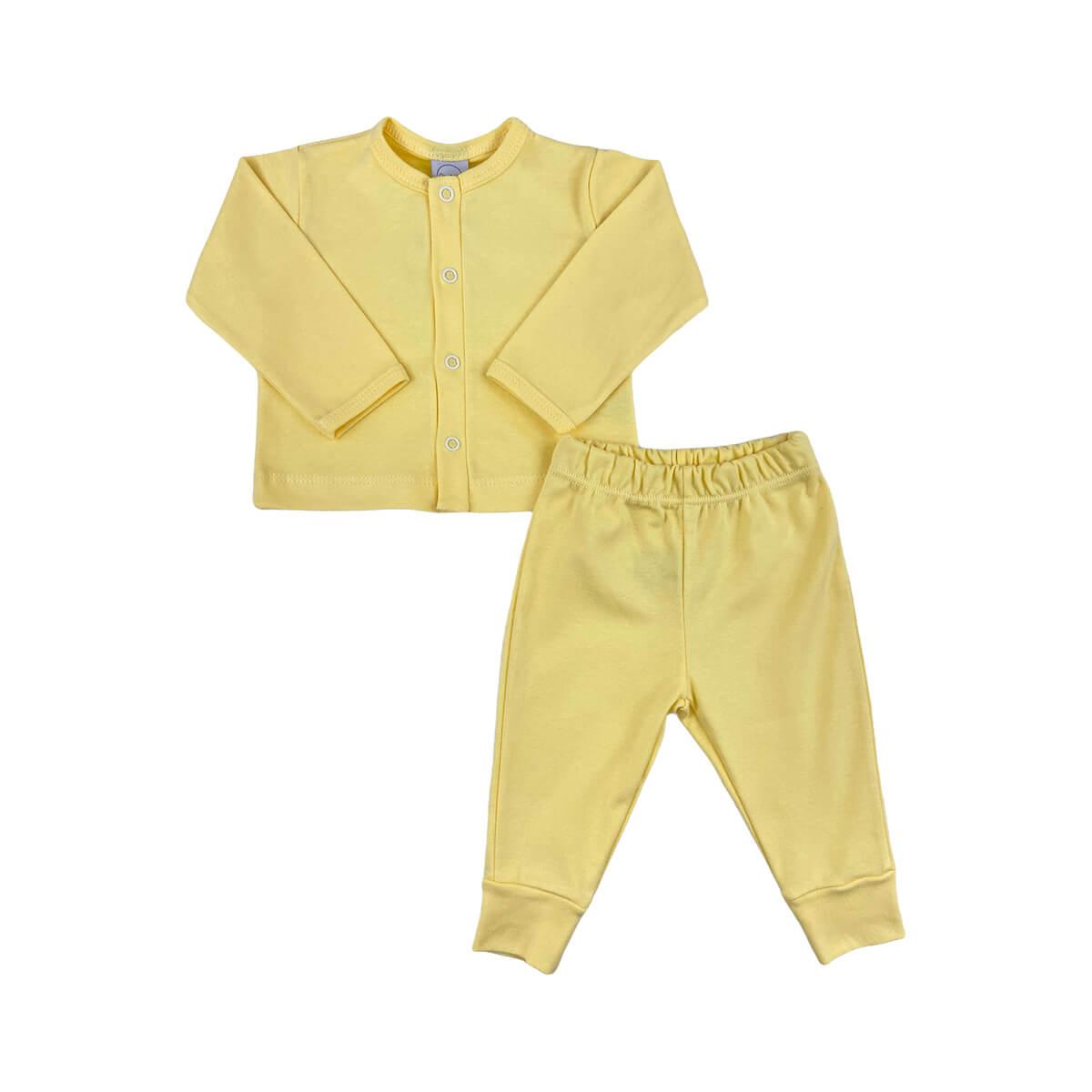 Conjunto Longo Casaquinho Amarelo
