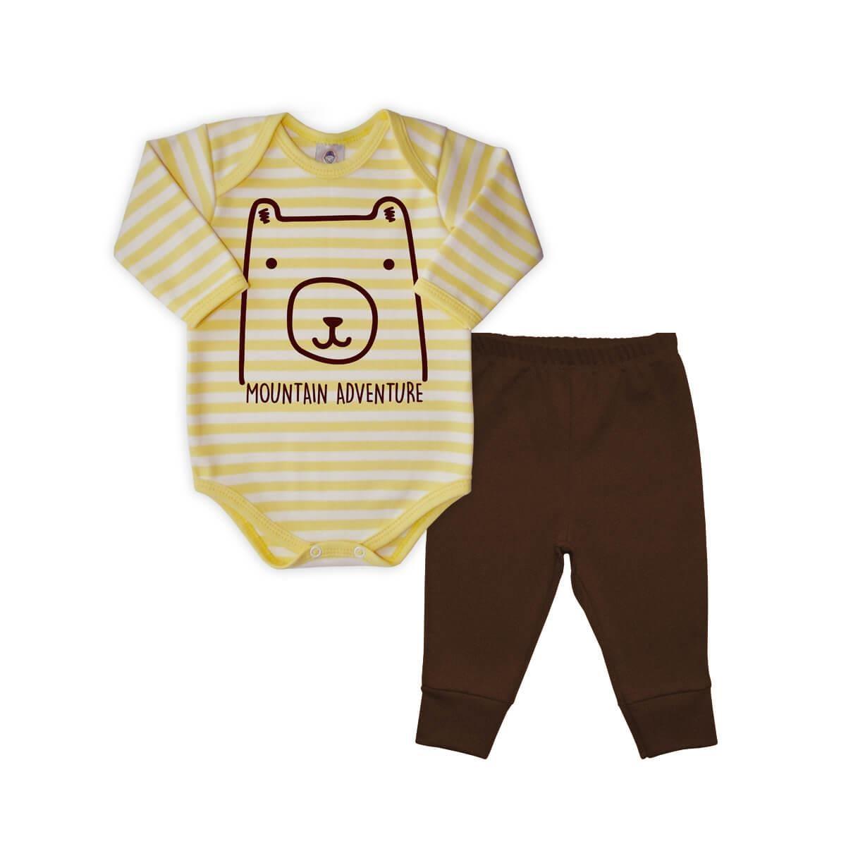 Conjunto Longo Listrado Urso