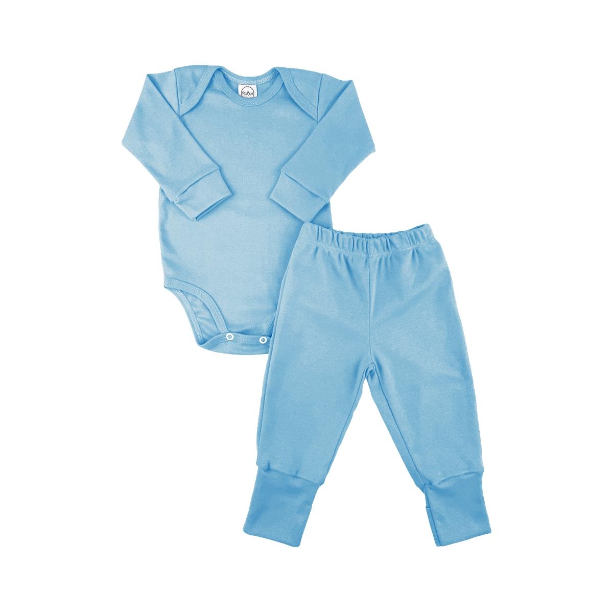 Conjunto Longo Underwear Azul