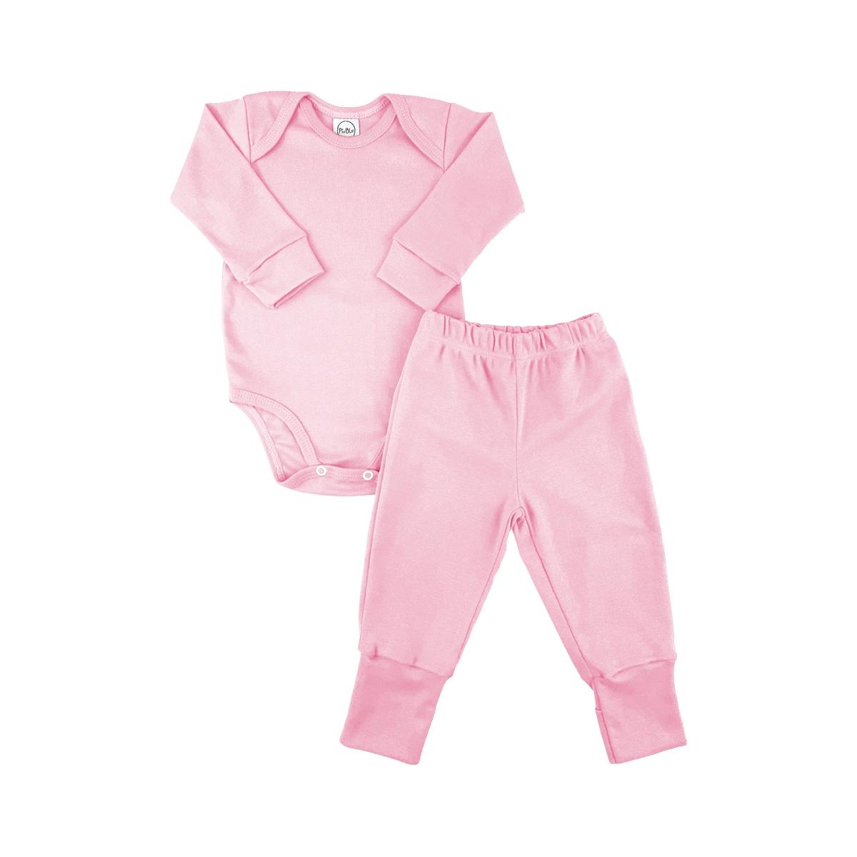 Conjunto Longo Underwear Rosa