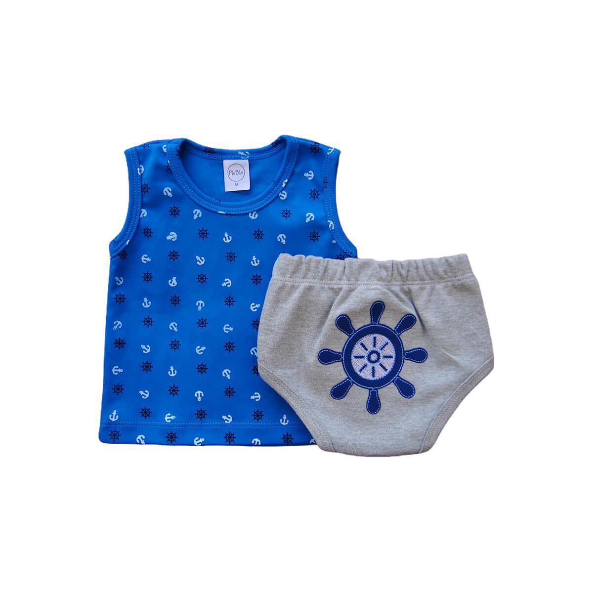 Conjunto Tapa Fralda Marinheiro  - Piu Blu