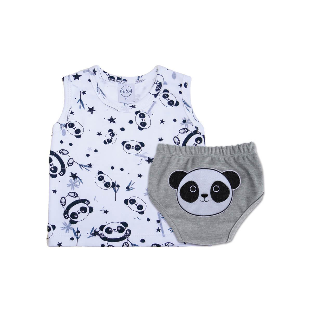 Conjunto Tapa Fralda Pandas
