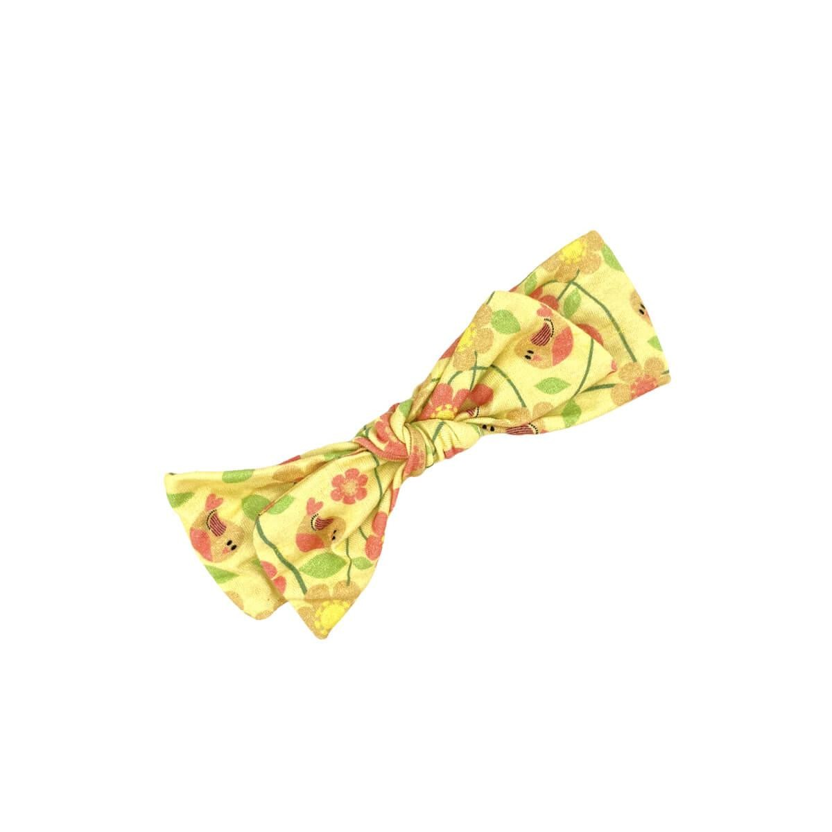 Faixa de Cabelo Passarinho Amarelo Com Elástico