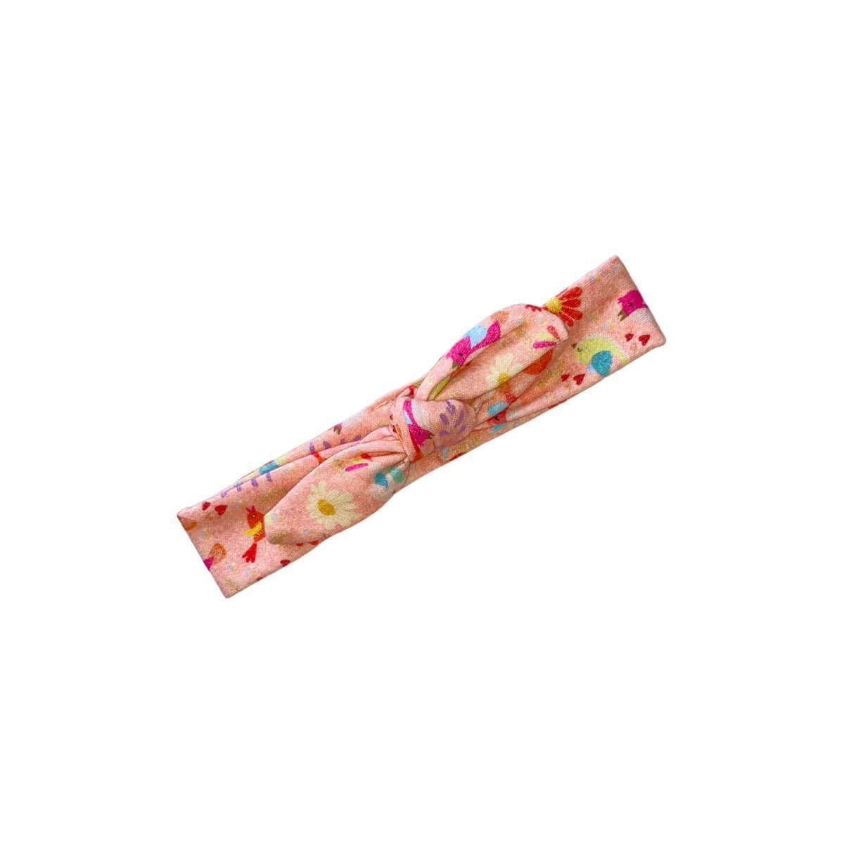Faixa de Cabelo Passarinhos Rosa