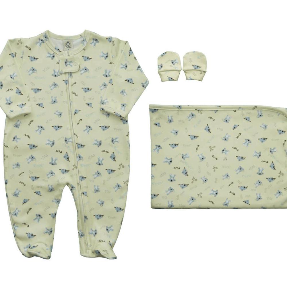 Kit Conforto Bebê Zíper Coala  - Piu Blu