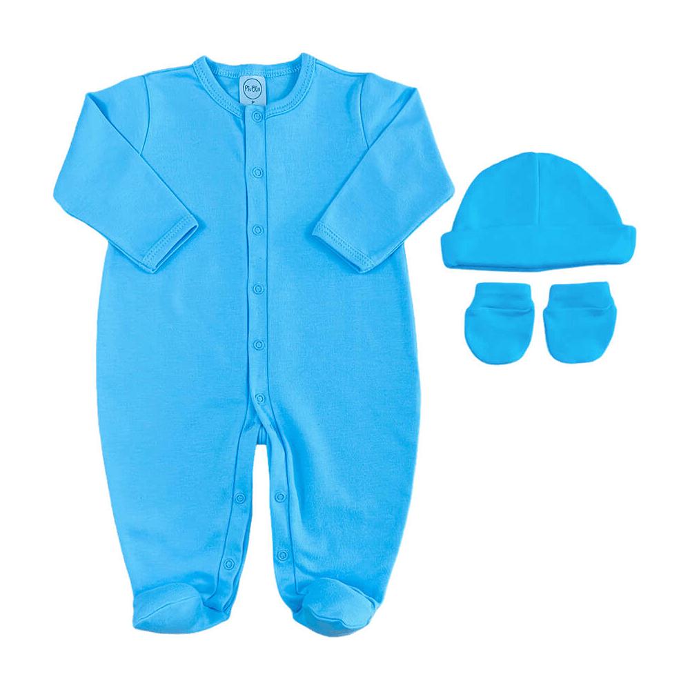 Kit Maternidade Bebê Básico Azul