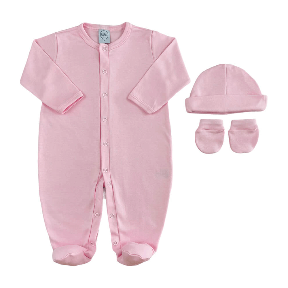 Kit Maternidade Bebê Básico Rosa