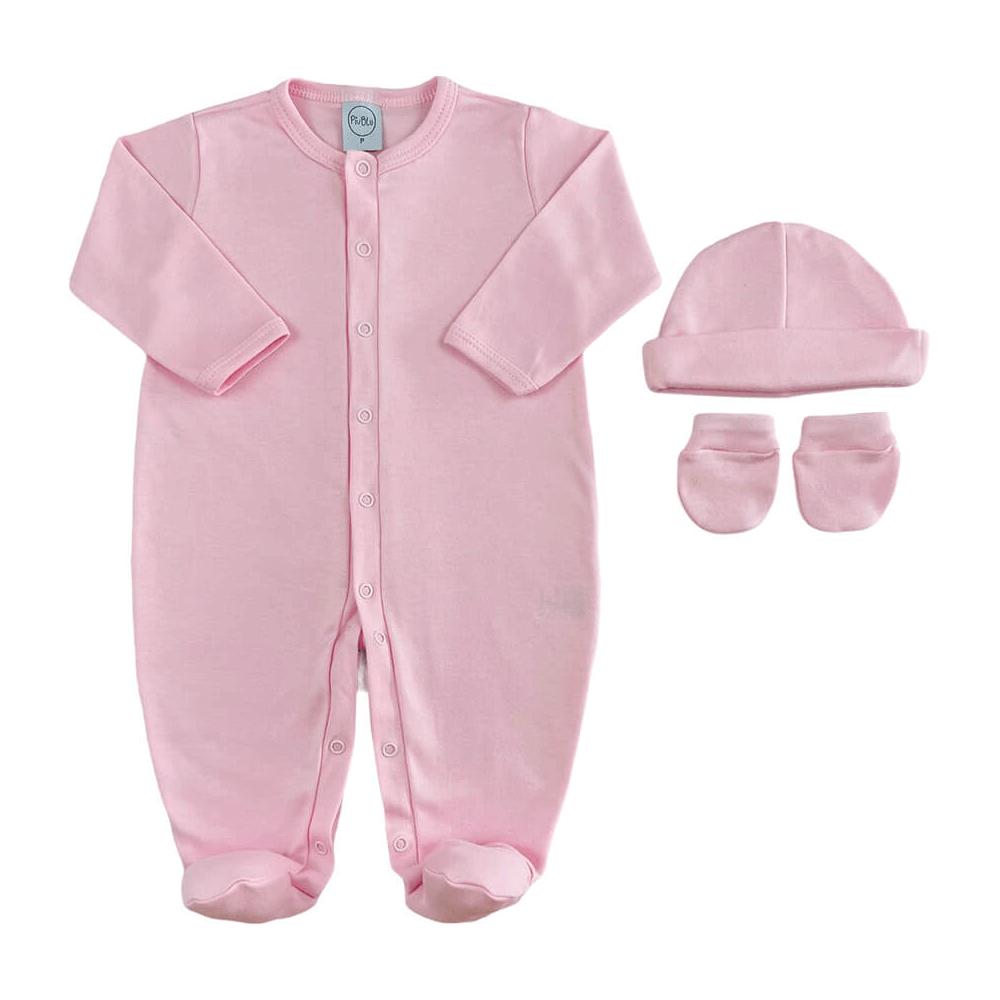 Kit Bebê Maternidade Básico Rosa  - Piu Blu