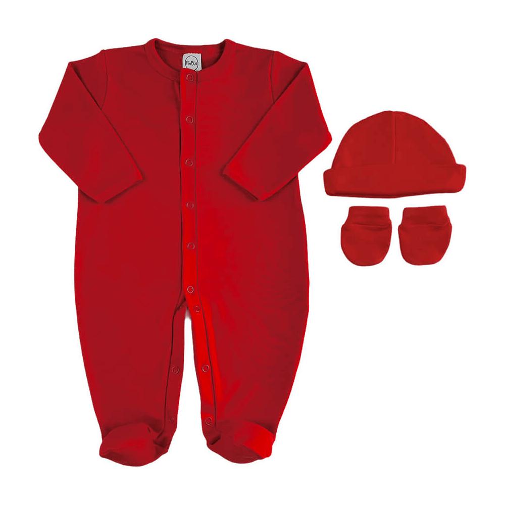 Kit Bebê Maternidade Básico Vermelho