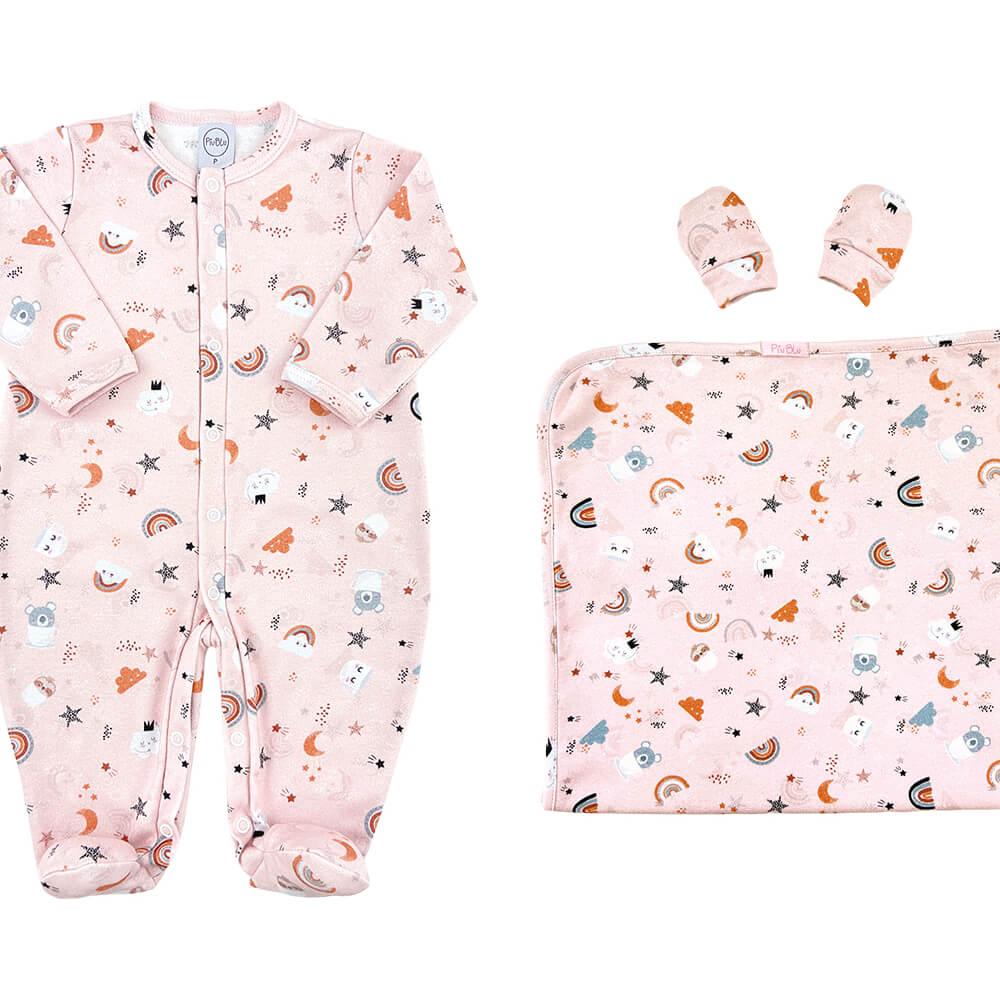 Kit Conforto Bebê Arco Íris