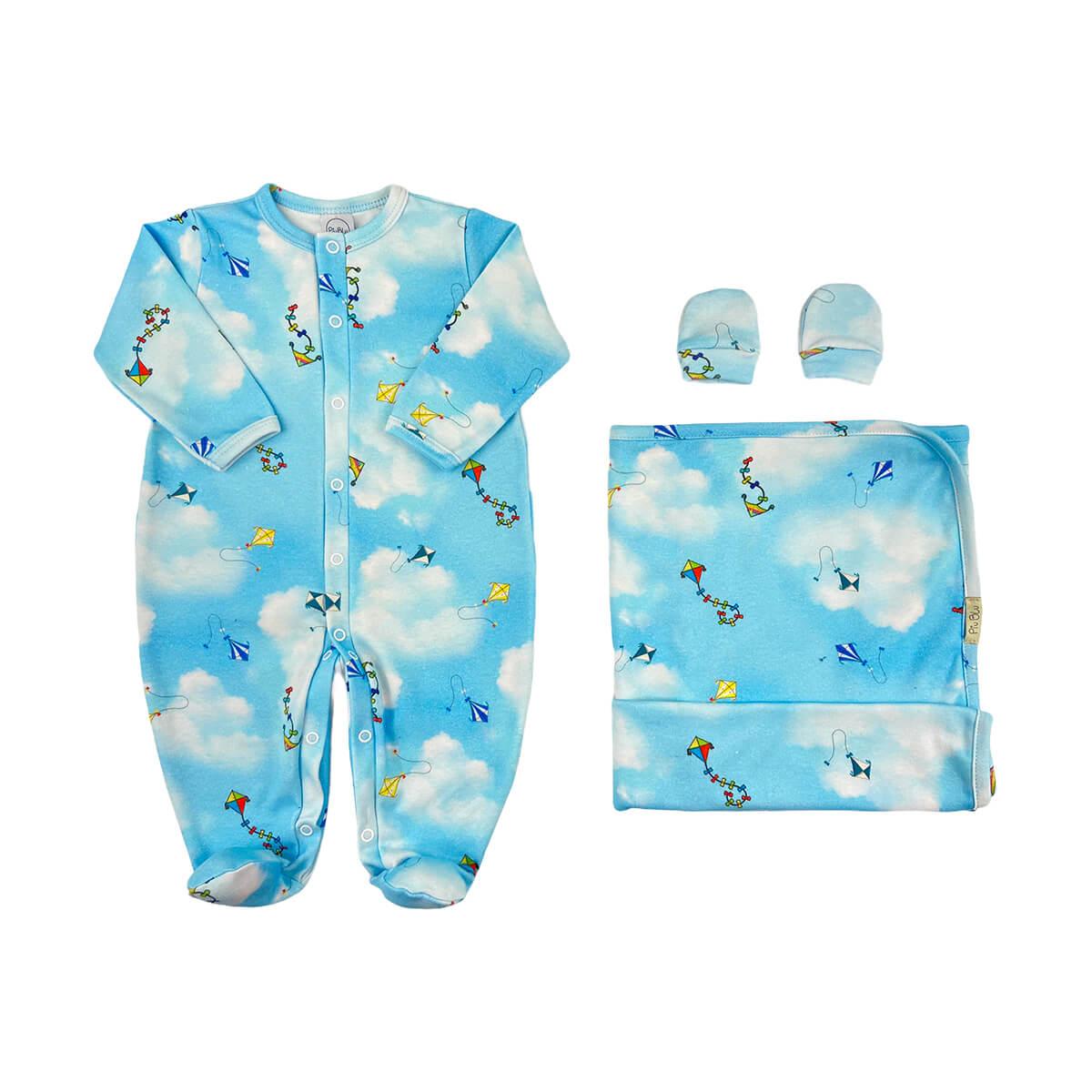 Kit Bebê Conforto Pipa  - Piu Blu