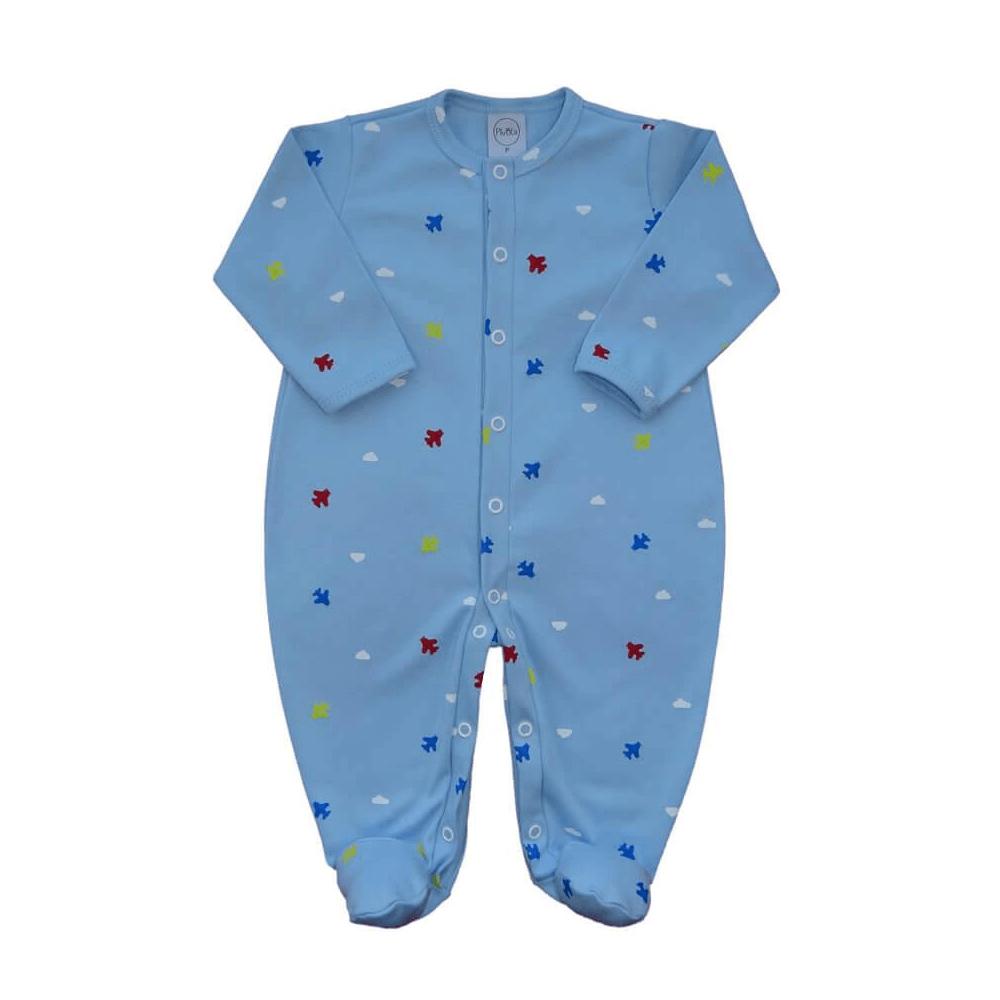 Macacão Bebê Básico Aviãozinho  - Piu Blu