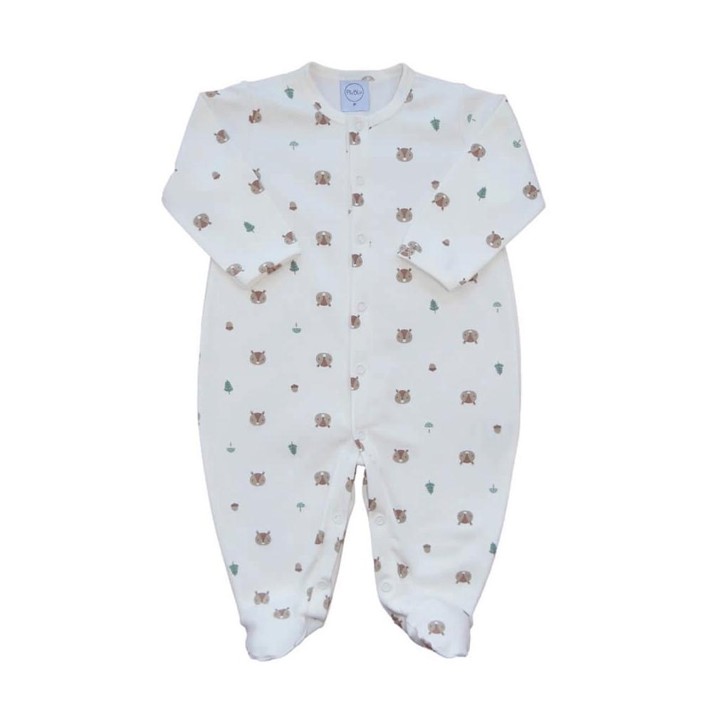 Macacão Bebê Básico Esquilinho Off  - Piu Blu