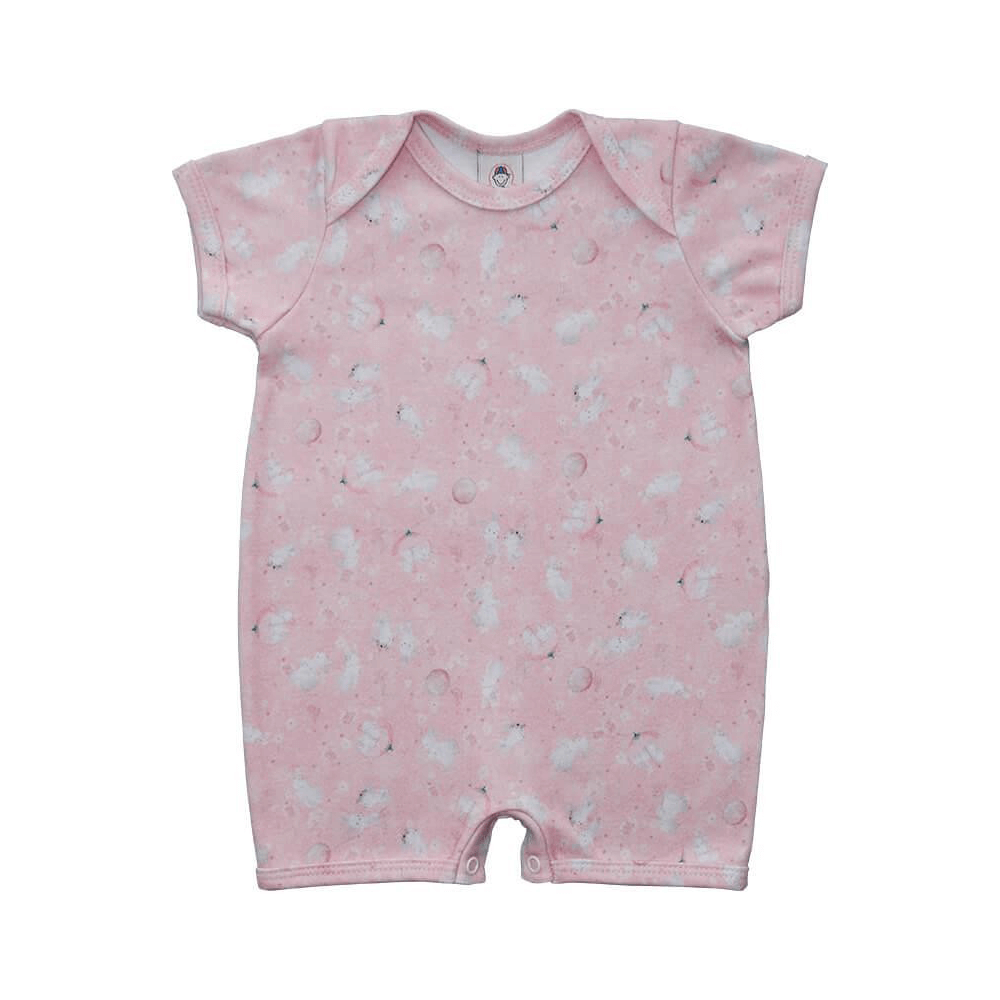 Macacão Bebê Curto Coelhinho  - Piu Blu