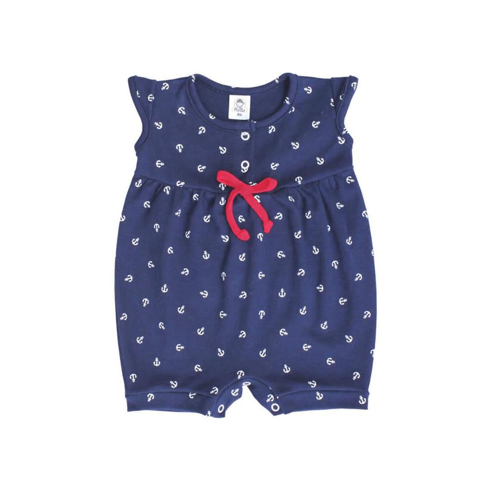 Macacão Bebê Curto Âncora  - Piu Blu